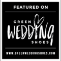 Featured on wedding blog Green wedding shoes