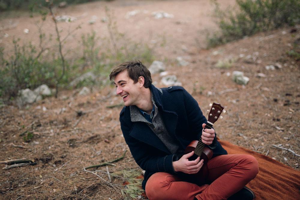 Une séance engagement en musique dans la forêt