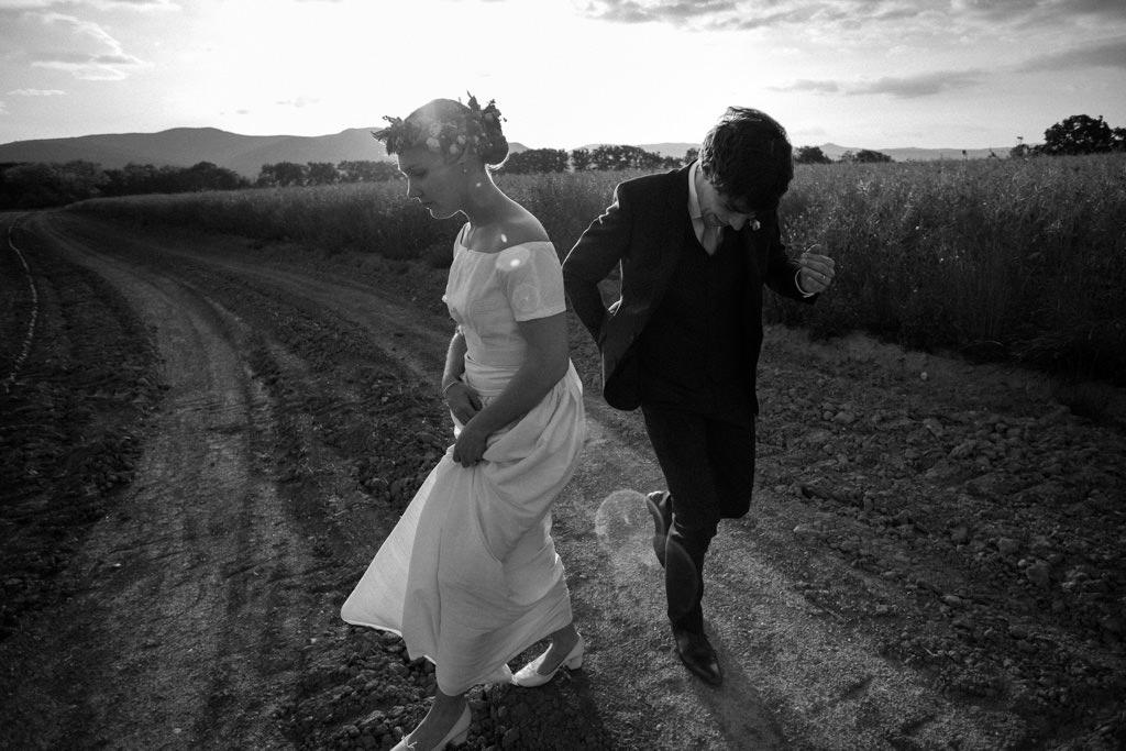 La séance couple des mariés le Jour J
