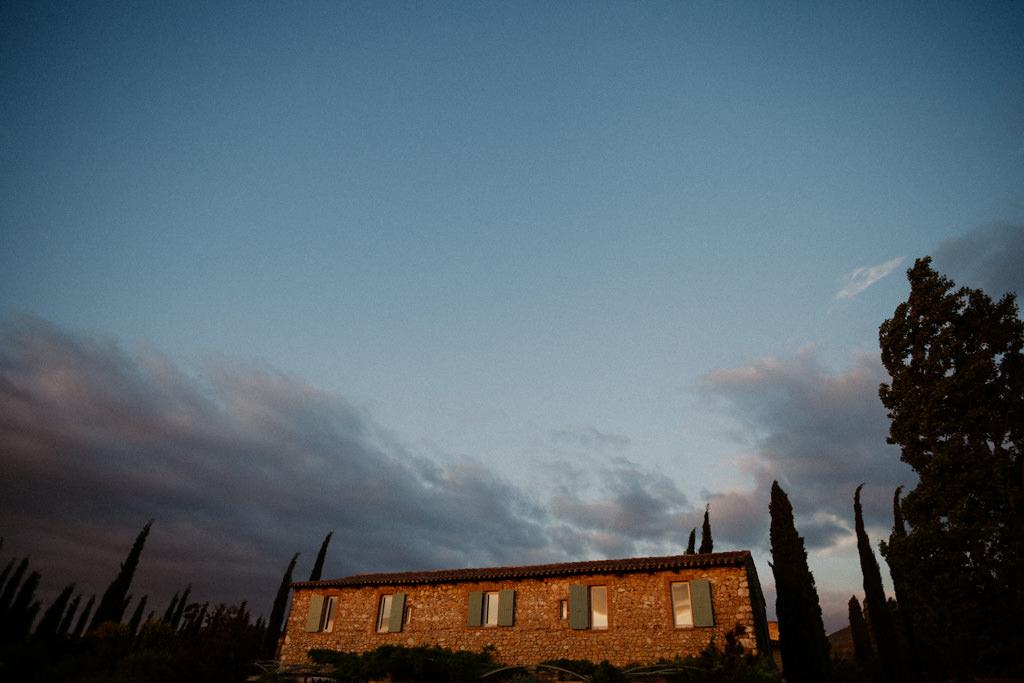 Le Domaine la Bâtie au coucher du soleil