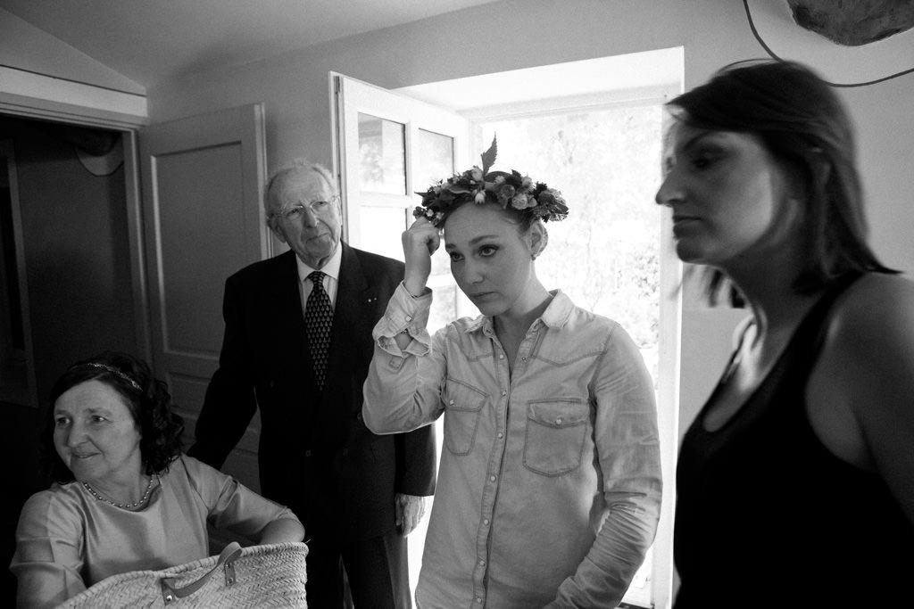 Les préparatifs de la mariée au Domaine la Bâtie en Drôme Provençale