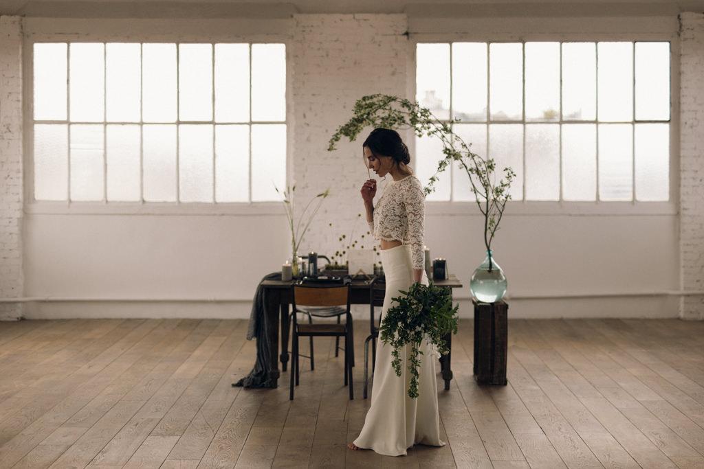 Inspiration pour un mariage minimal et végétal avec Artis événement photographié par Lika Banshoya Poetic Photography