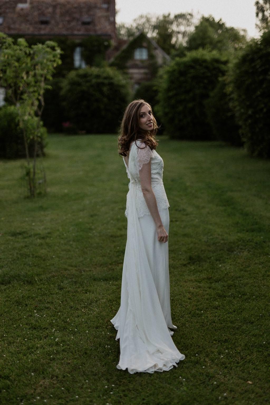 Portrait de la mariée au Manoir des Prévanches