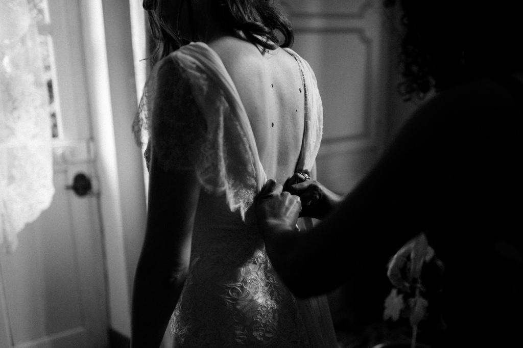 Robe de mariée Christian Lacroix sur mesure