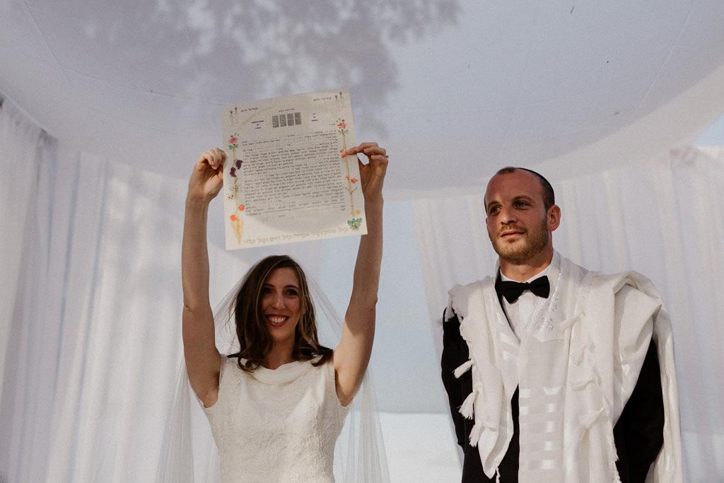 La kala brandit la ketuba sous la houppa - Photographe mariage juif Paris