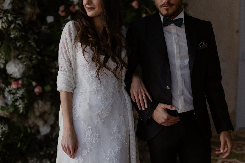 Portrait des mariés au Château d'Alphéran à Aix en Provence