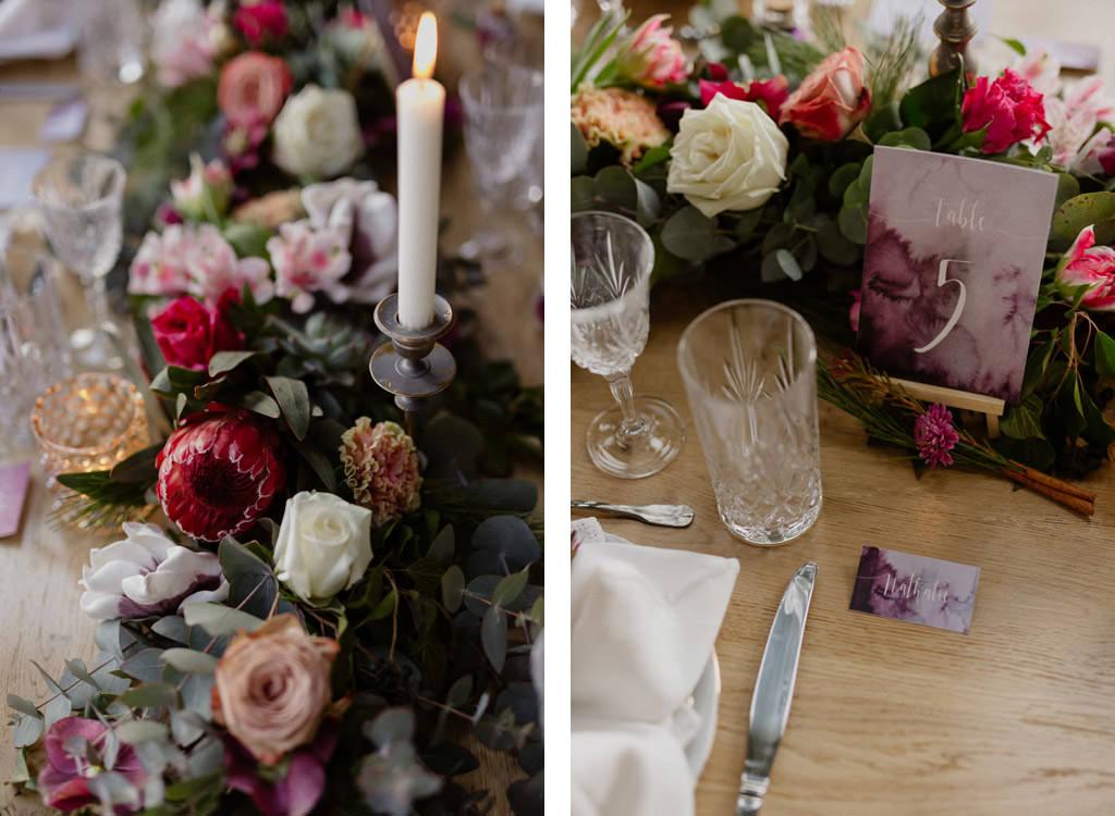 La magnifique décoration de table d'Encre d'or, wedding planner en Provence avec la papeterie d'Ivy Cousin