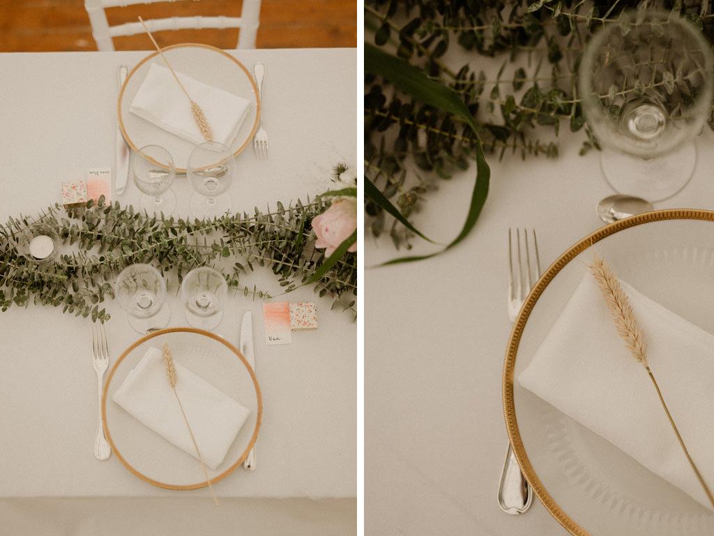Une déco simple DIY pour une table de réception