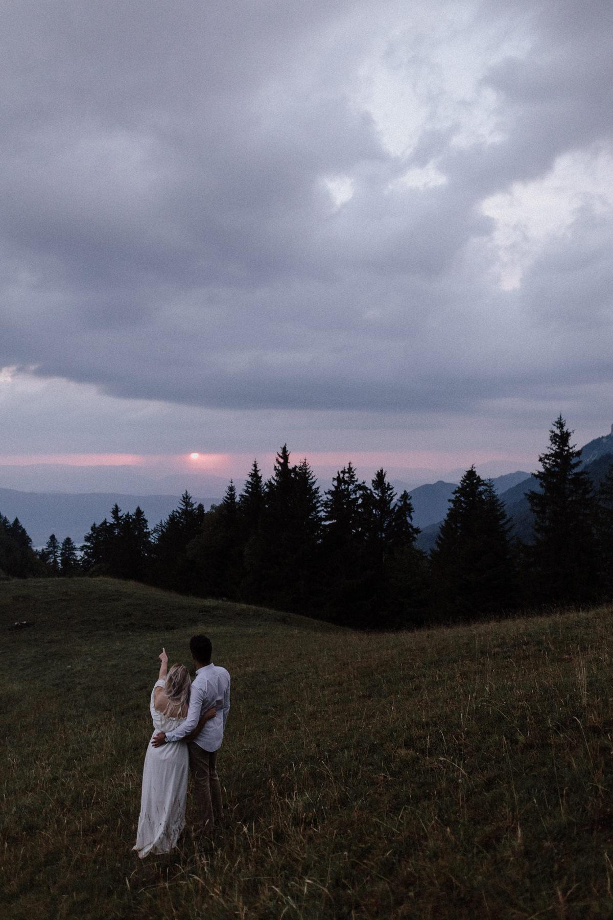 Une séance engamenent en montagne à Annecy