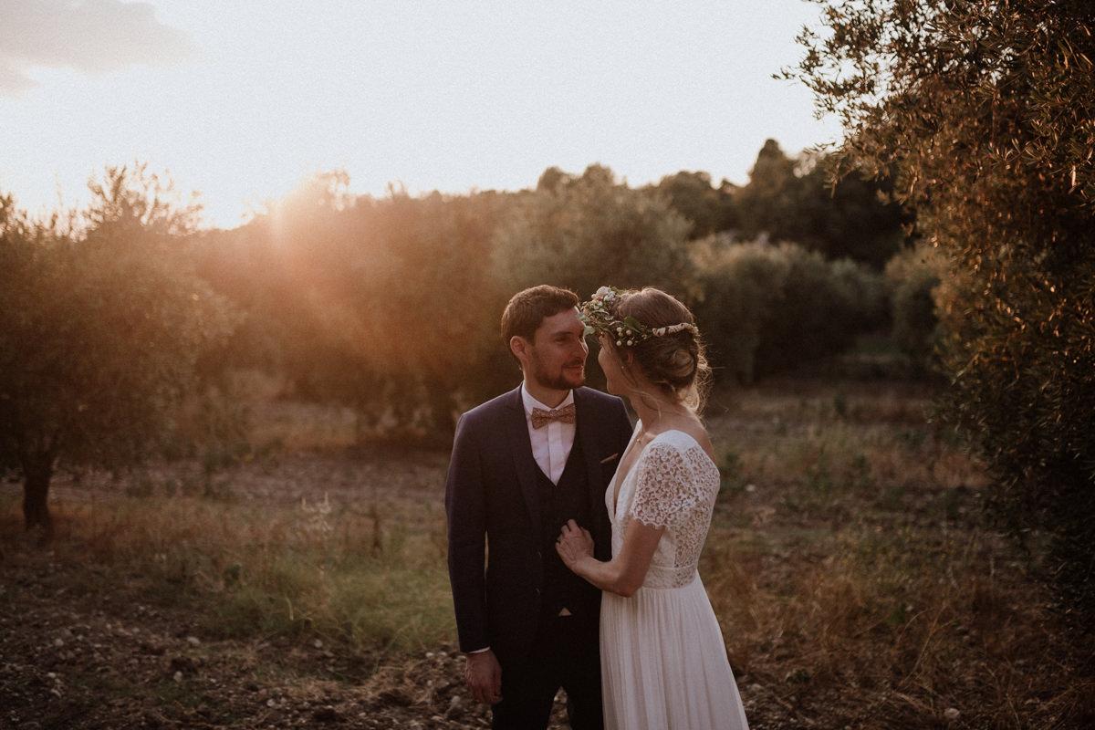 Un mariage végétal et pastel au Mas du Boutonnet